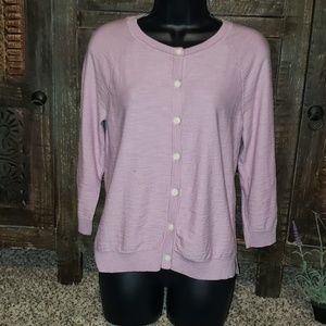 Sz M Ann Taylor Loft button up cardigan